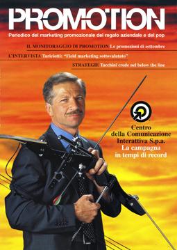Copertina della rivista promozione