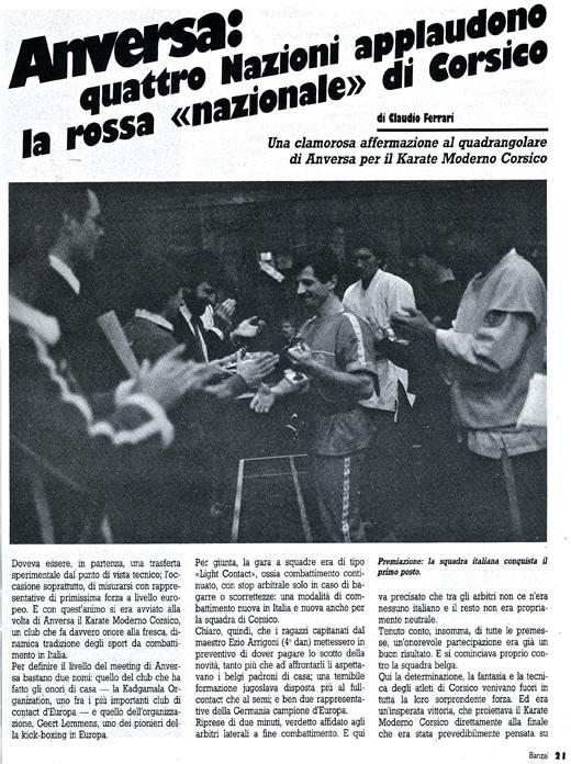 Arri Wind articolo su Banzai 1985